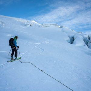 PIZ PALÜ 3900M Mittelschweres Skibergsteigen mit viel Skiabfahrt.