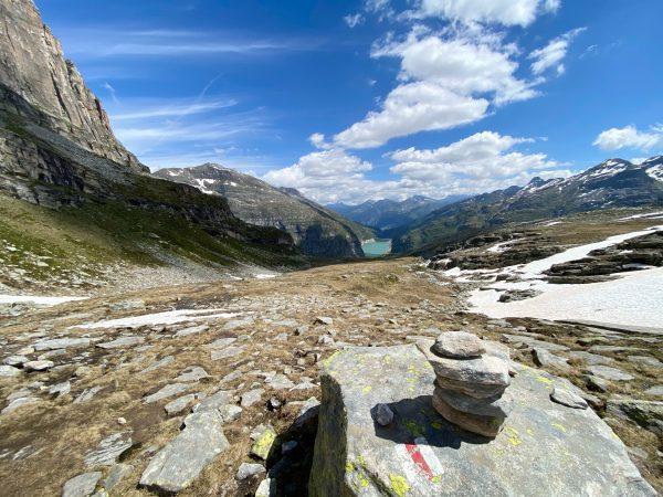 Zervreilahorn, Südgipfel 2898 m, Alpine Wanderung zu Matterhorn Graubündens